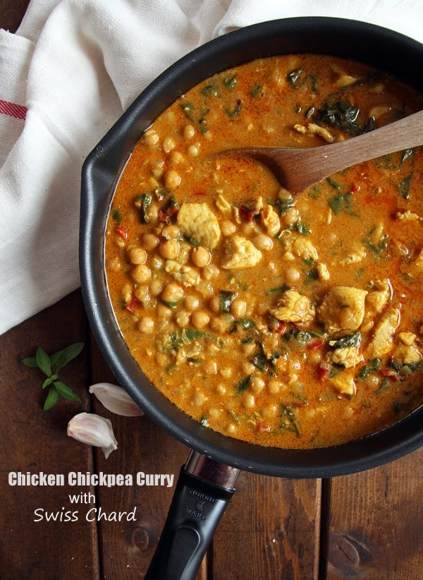 Chickpea Curry with Swiss Chard