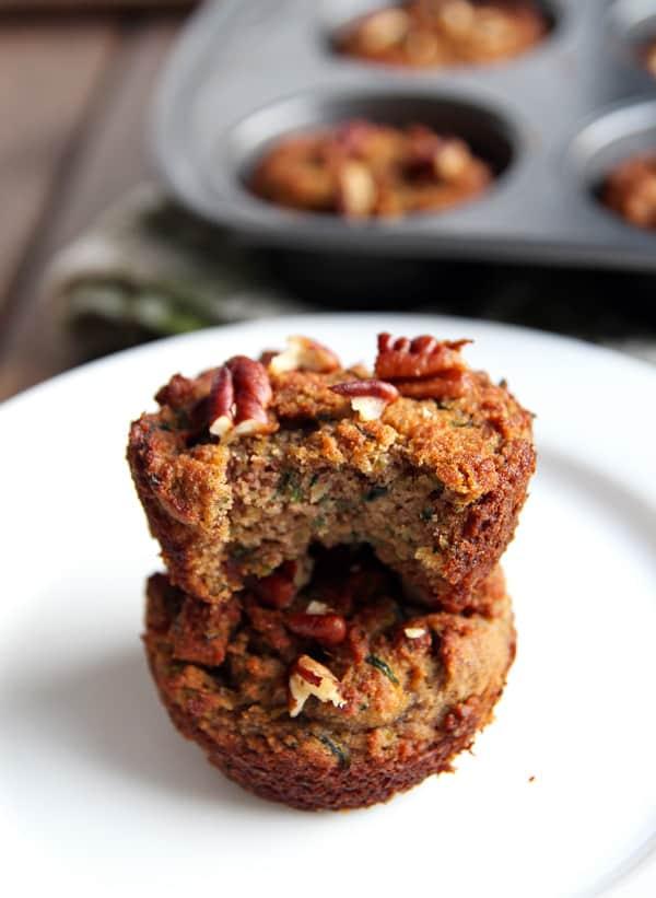 Coconut Flour Zucchini Muffin Inside