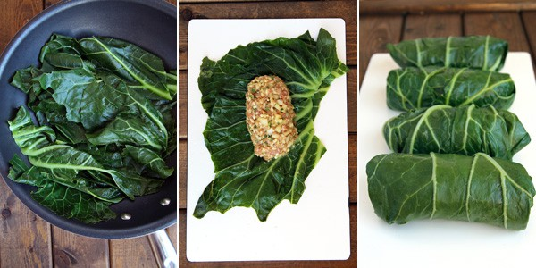 Collards Green Roll Ups