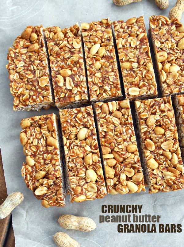 Sliced Peanut Butter Granola Bars