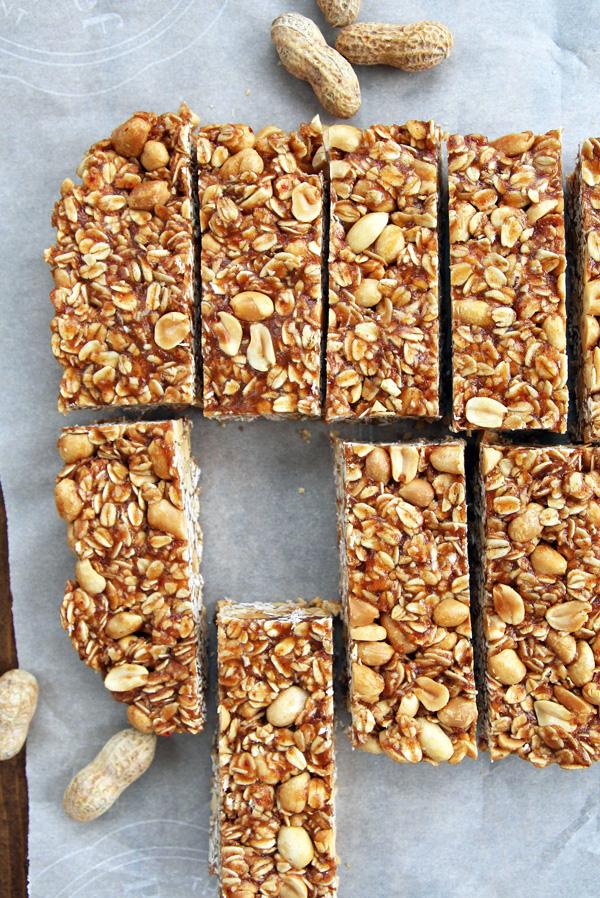 Healthy Peanut Butter Granola Bars