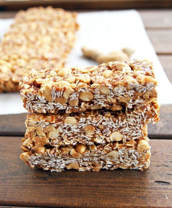 Peanut Butter Granola Bar Stack