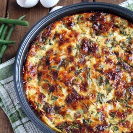 Crustless Bacon and Veggie Quiche