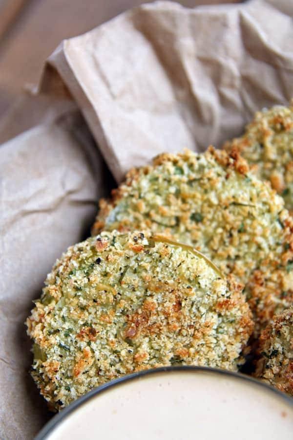 Crispy Baked Green Tomatoes
