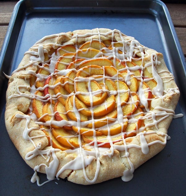 Peaches Galette with Glaze