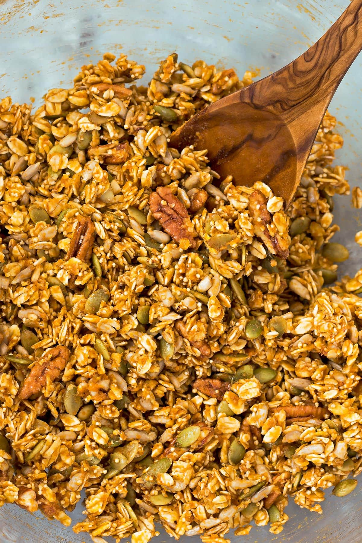 Mixed up pumpkin granola mix