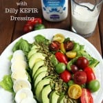 Rainbow Salad with Dilly Kefir Dressing