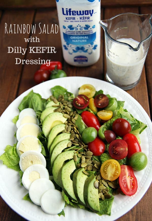 Rainbow Salad with Dilly Kefir Dressing #CollectiveBias #shop
