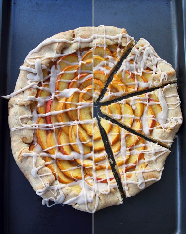 Slicing the Peach Galette