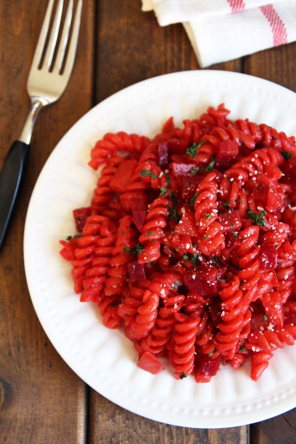 30 Minute Risotto-style Beet Pasta