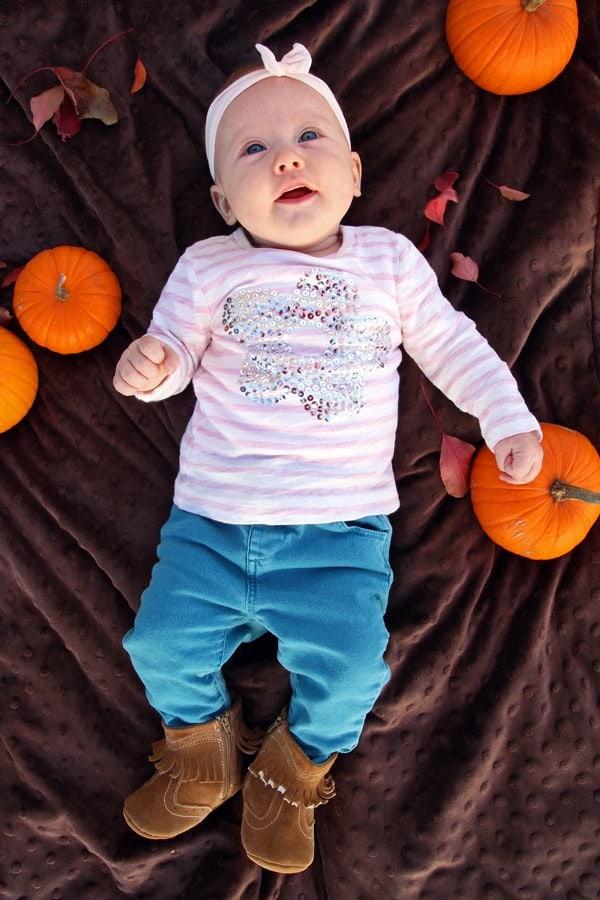 Olivia with Pumpkins