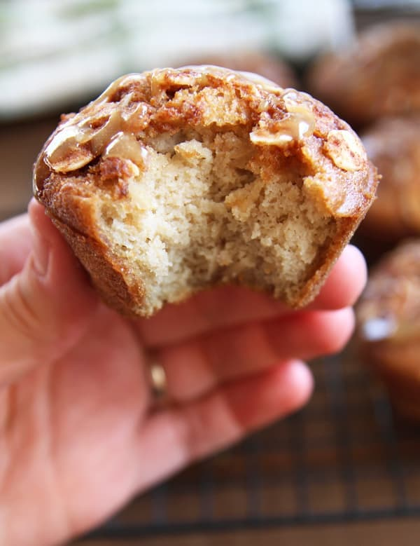 Bite from Coconut Flour Muffin