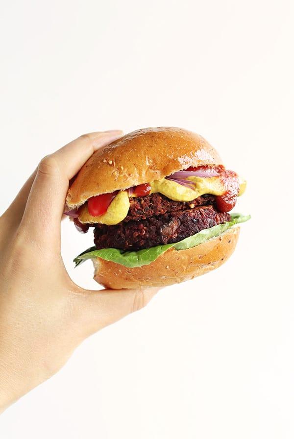 Smoky Black Bean Beet Burger