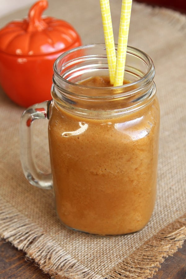 Healthy Pumpkin Spice Frappe