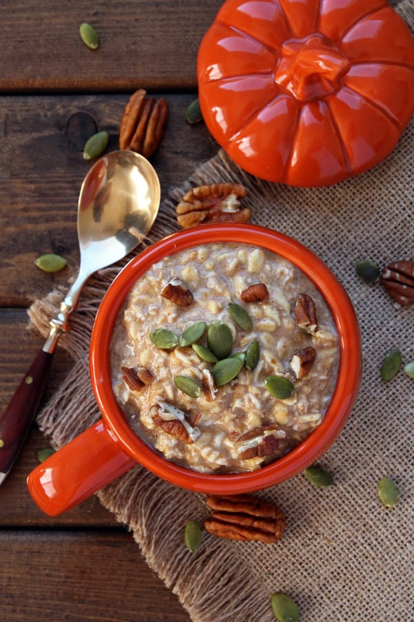 Overnight Pumpkin Oats