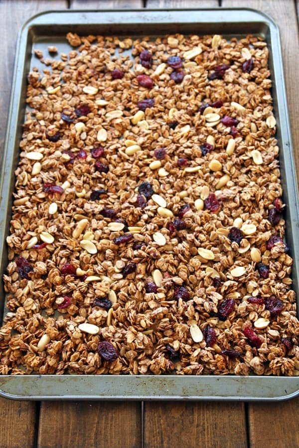 Granola with PB and J