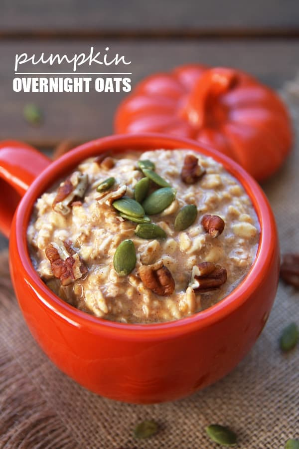 Spiced Overnight Pumpkin Oats