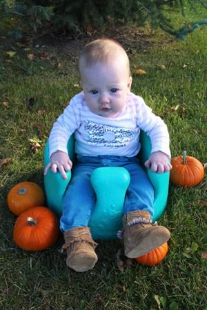 Olivia in Pumpkin Patch