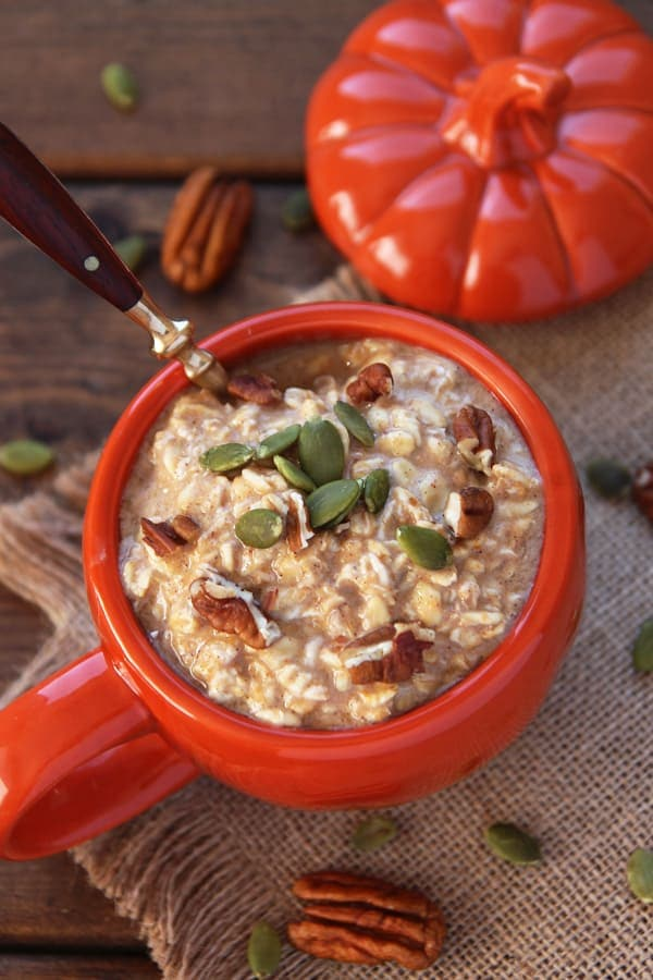 Overnight Oats with Pumpkin