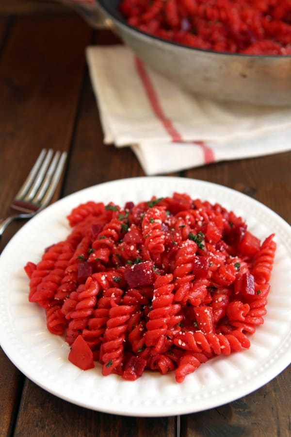 30 Minute Risotto-Style Beetroot Pasta