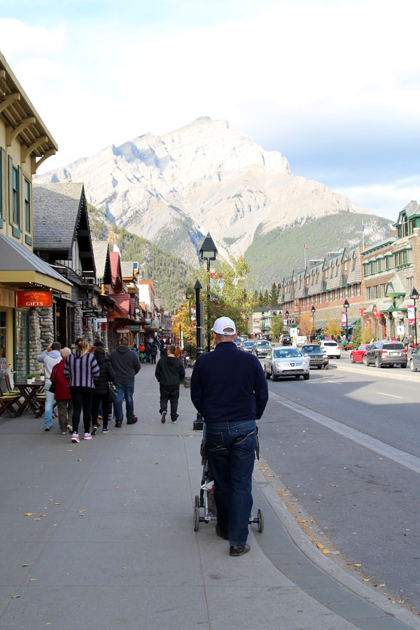 Walking in Banff Town