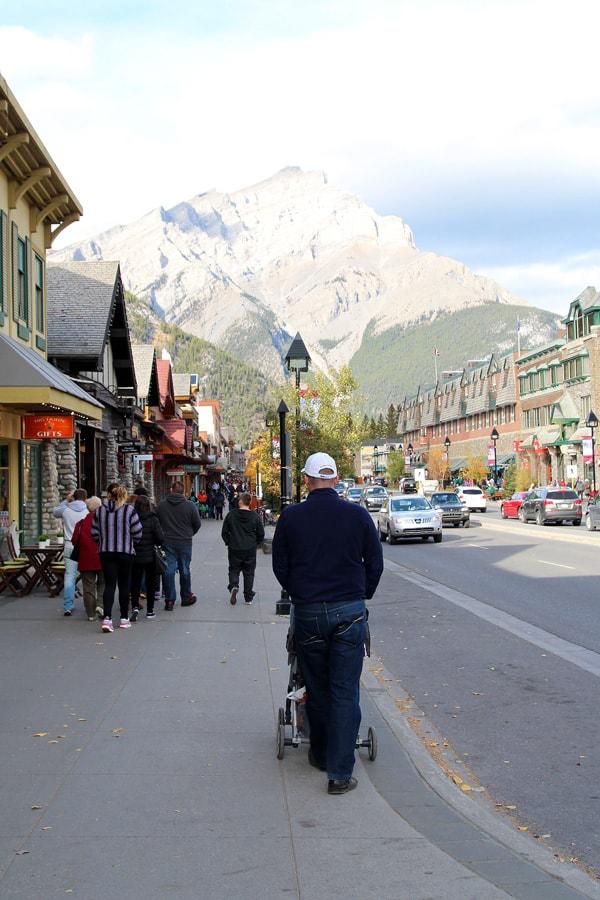 Walking in Banff Town