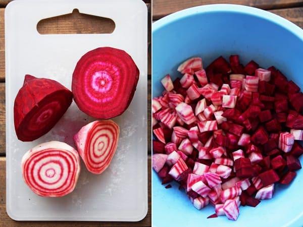 Slicing Candycane Beets
