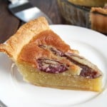 Almond Custard Pie with Plums