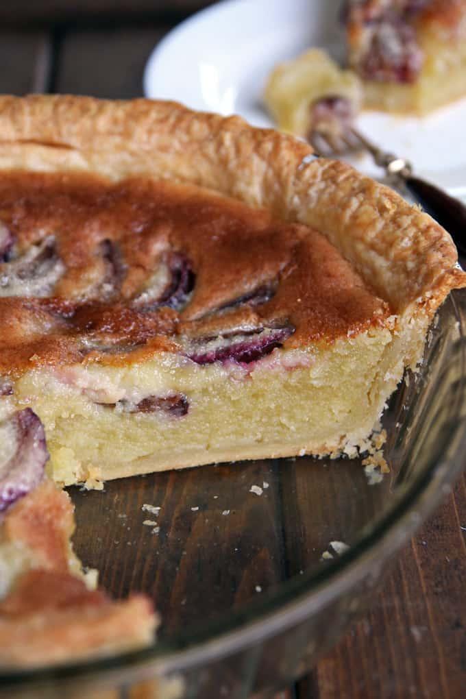Almond Custard Pie with Plums