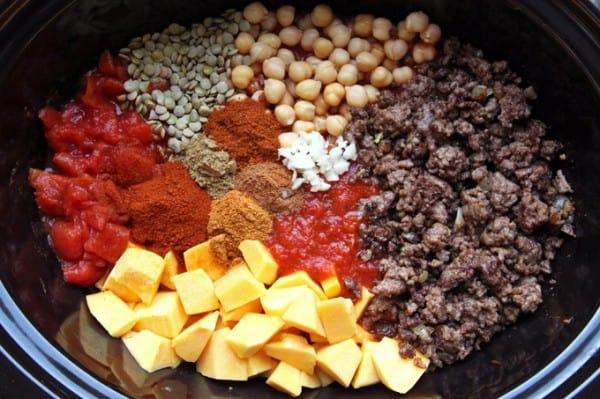 Adding Chili Ingredients to Crockpot
