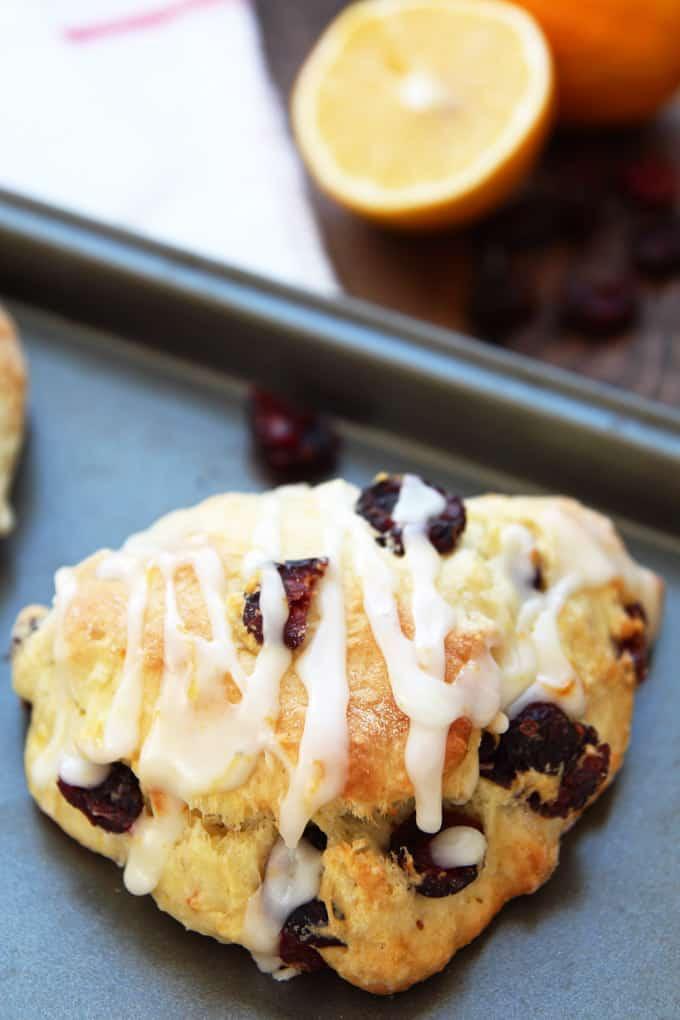 Meyer Lemon Cranberry Scones – LeelaLicious