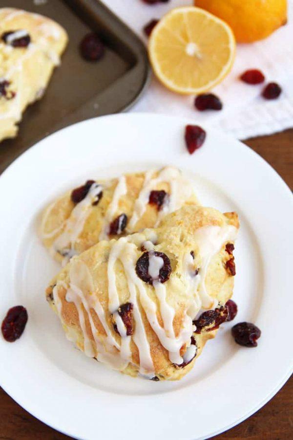 Cranberry Meyer Lemon Scones