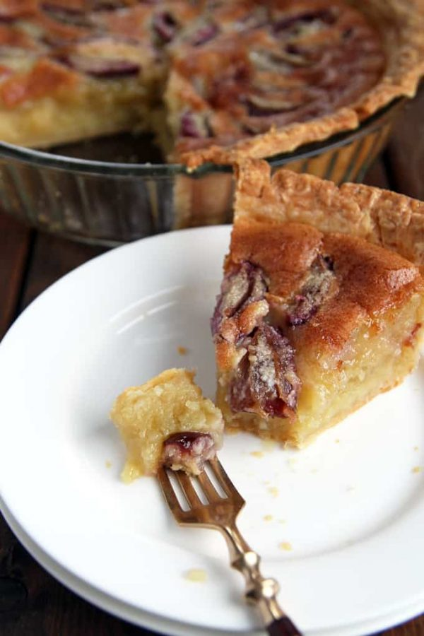 Plum Almond Custard Pie