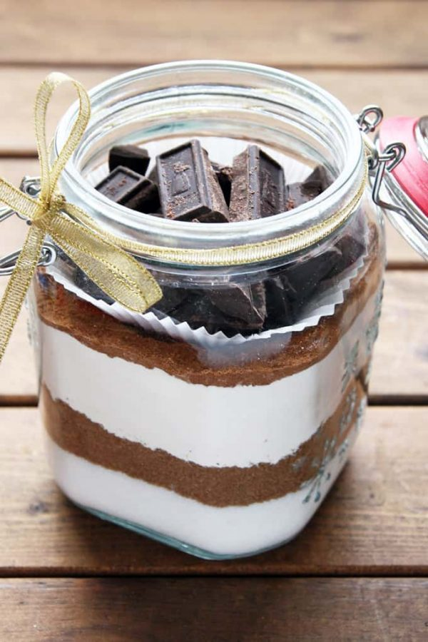 Jar of Gingerbread Brownie Mix
