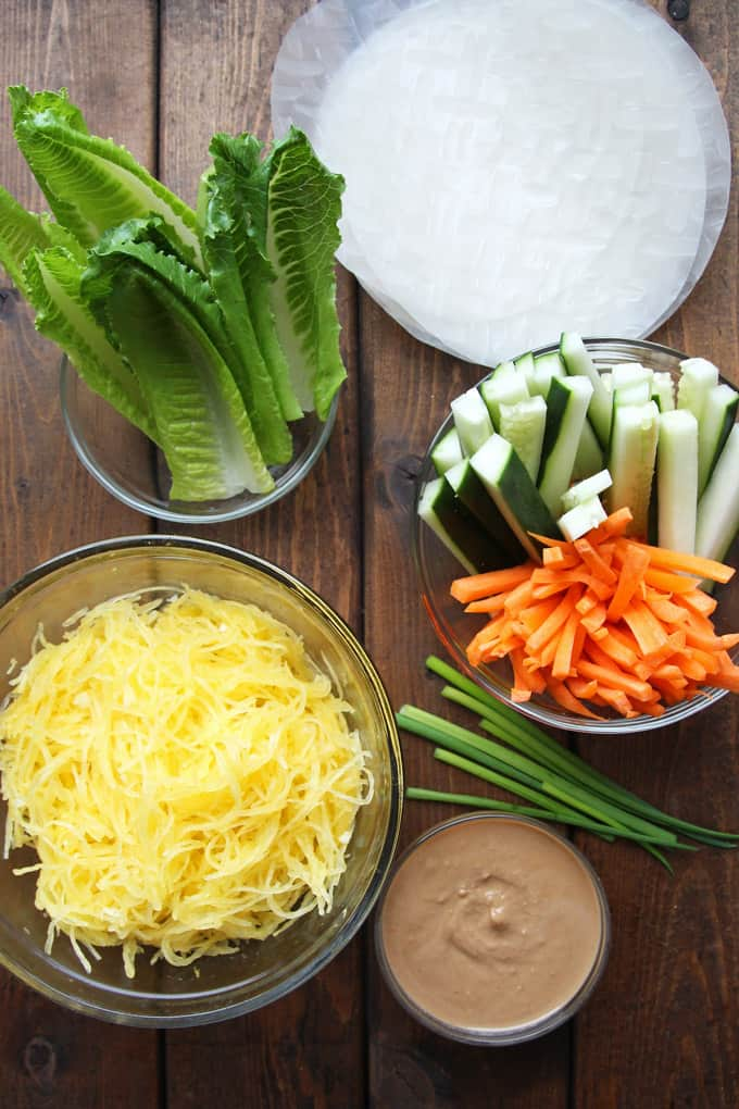 6-Ingredient Fresh Spring Rolls with Spaghetti Squash
