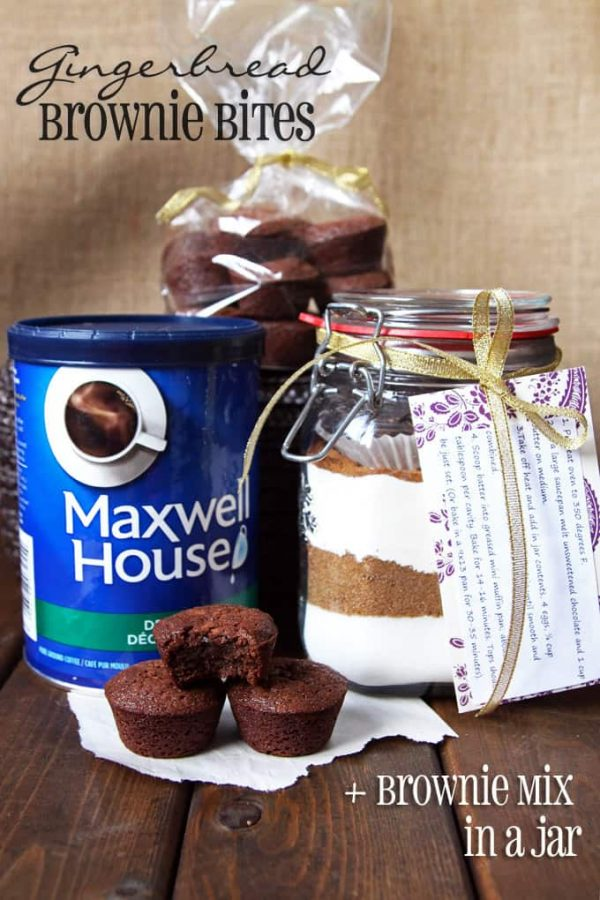 Gingerbread Brownie Mix in a Jar Gift