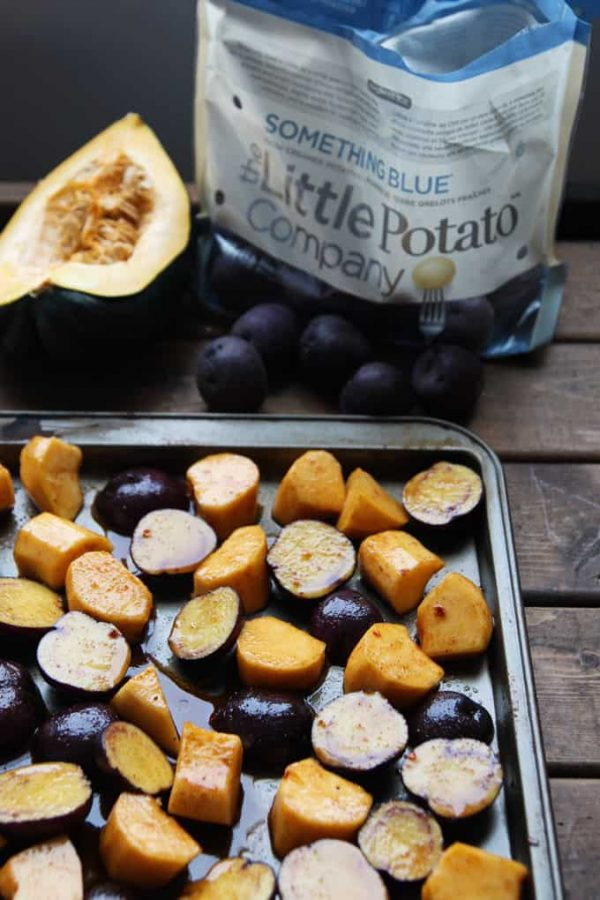 Potatoes and Squash on Tray