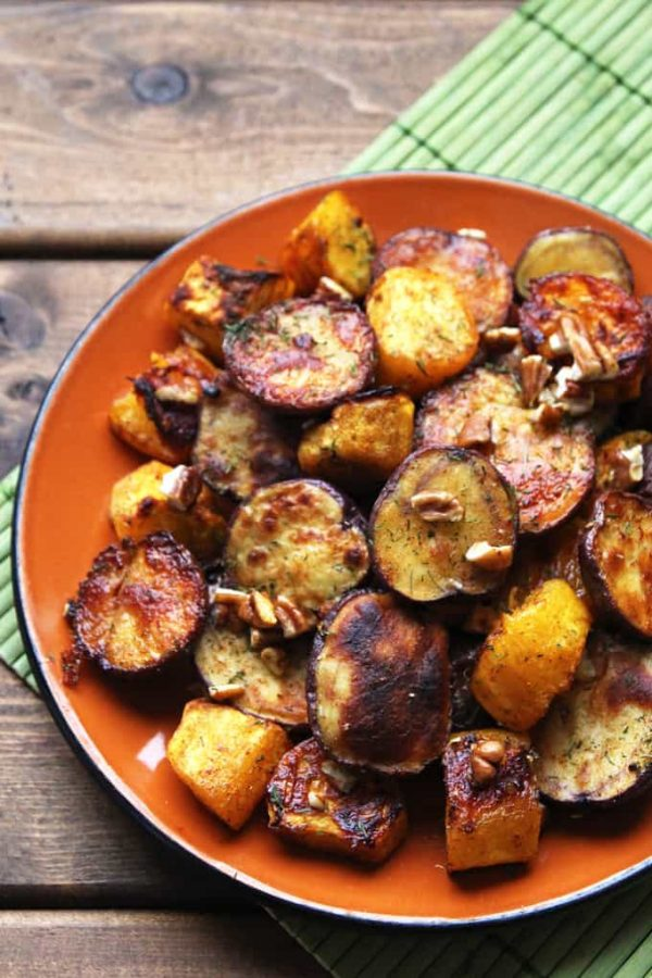 Sweet and Spicy Roasted Potato and Squash