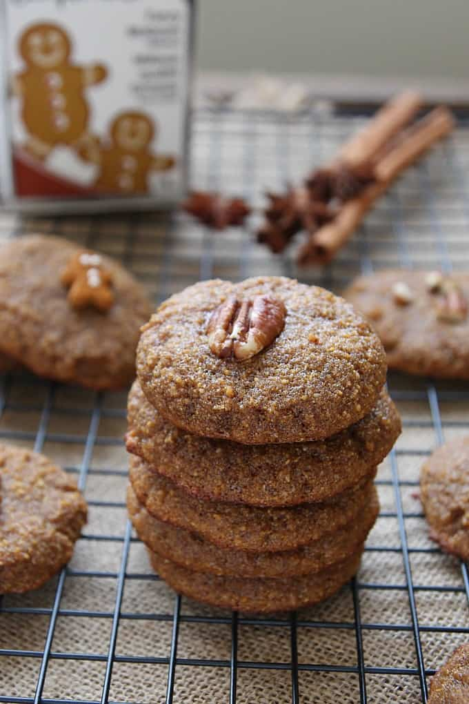Coconut Flour Gingerbread Cookies