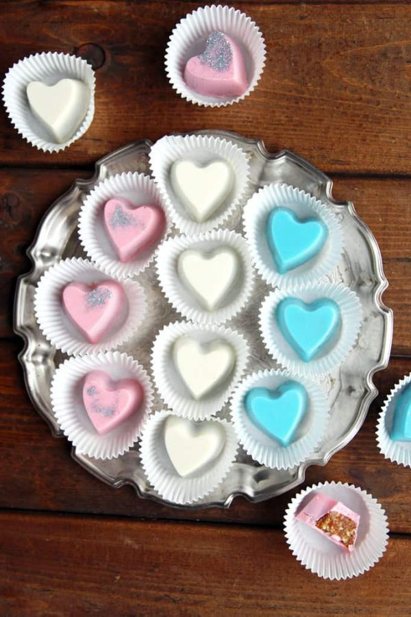Heart-shaped Chocolates in Paper Liners