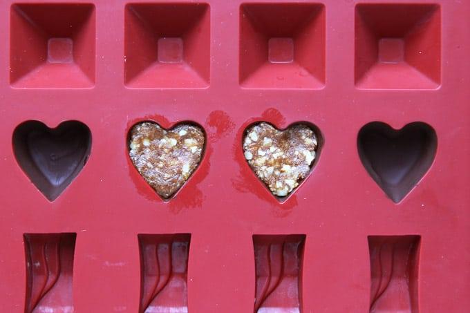 Making Valentines Chocolates