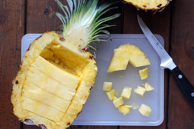 Thai Baked Pineapple Fried Rice