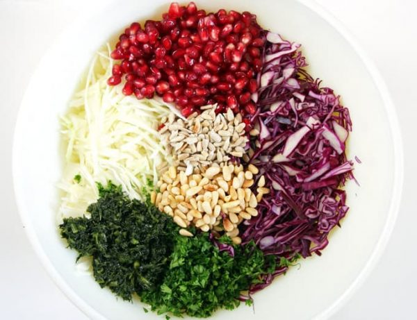 Ingredients for Cabbage Slaw