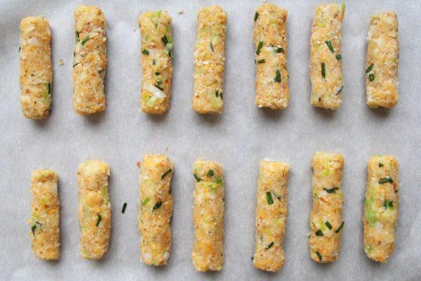 Cheese Sticks on Baking Sheet