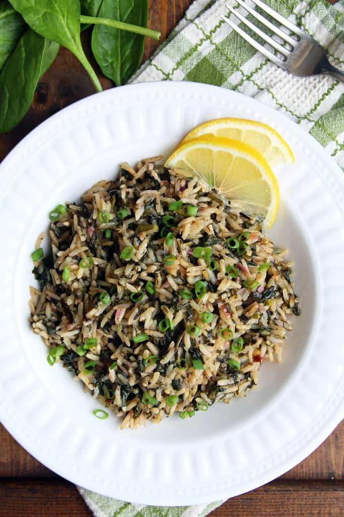 Spanakorizo (Greek Spinach Rice) Recipe — Dishmaps