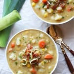 Creamy Vegetable Soup with Leek (dairy-free)