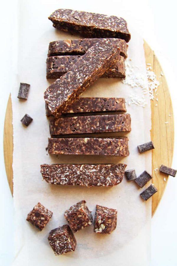Paleo Chocolate Bars Cutting Board