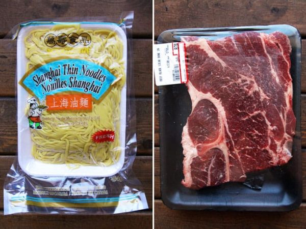 Shanghai Noodles and Beef