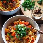 Lagman Recipe – Uzbek Beef Noodle Soup with Vegetables