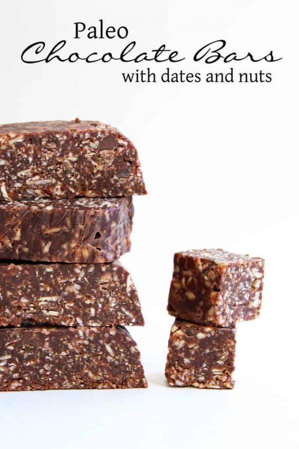 Paleo Chocolate Bars Title Photo